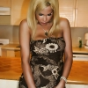 The Lovely TRANSSEXUAL Milla shows her Shemale Schlong under her Alluring Brown Dress
